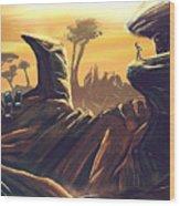 Alien Territory Wood Print