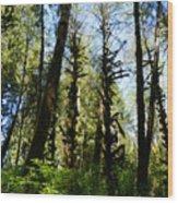 Alien Trees Wood Print