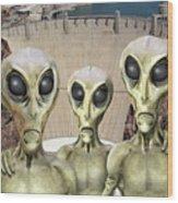 Alien Vacation - Hoover Dam Wood Print