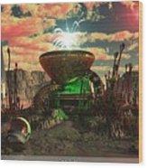 Alien World 2 Wood Print by Jim Coe