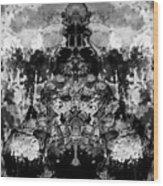 Aliena - Monochromatic Wood Print