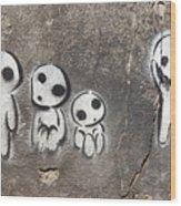 Aliens Wood Print