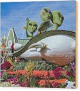 Aliens Spaceship 3 Wood Print