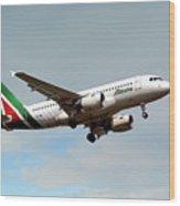 Alitalia Airbus A319-112 Wood Print