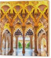 Aljaferia Stadpalast, Saragossa, Spain Wood Print