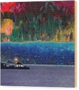 Alki Point Wood Print