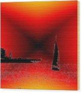 Alki Sail 2 Wood Print