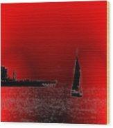 Alki Sail 4 Wood Print