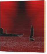 Alki Sail 5 Wood Print