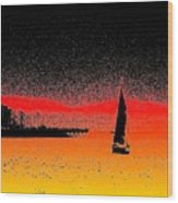 Alki Sail  Wood Print