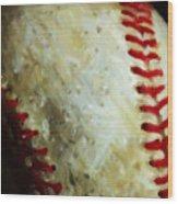 All American Pastime - Baseball - Vertical Cut - Painterly Wood Print
