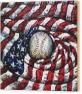 All American Wood Print by Shana Rowe Jackson