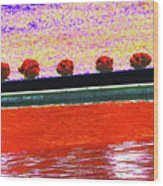 All In A Row Wood Print