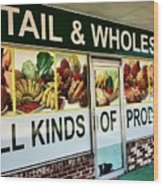 All Kinds Of Produce Wood Print