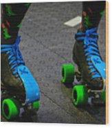 All Natural Disaster's Skates Wood Print