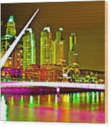 All Night Puerto Madero Wood Print