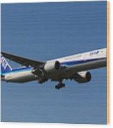 All Nippon Airways Boeing 777 Wood Print