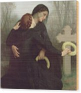 All Saints Day Wood Print by William Adolphe Bouguereau
