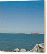 All Ships At Sea Wood Print