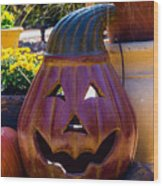 All Smiles For Halloween Wood Print
