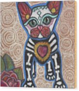 All Souls Day Aztec Wood Print