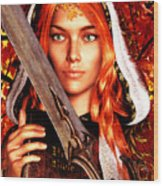 All Souls Day Saint Dymphna Wood Print