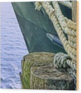 All Tied Up In Port Jefferson No 1 Wood Print