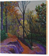 Alla Prima In October Wood Print