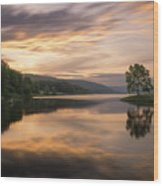 Allegany Sunset Wood Print