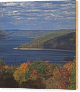 Allegheny National Forest Lake  Wood Print
