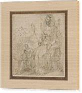 Allegory Of Pride Wood Print