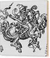 Allegory Of Saturn, 1480 Wood Print