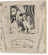 Allegory Of Summer Wood Print