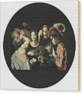 Allegory Of The 5 Senses Wood Print