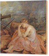 Allegory Of War Wood Print