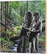 Allen And Steve Jam With Friends On Mt. Spokane Wood Print