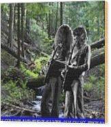 Allen And Steve On Mt. Spokane Wood Print