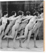 Allen Chorus Line, 1920 - To License For Professional Use Visit Granger.com Wood Print