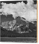Allen Mountain Towers Over Swift Current Lake Wood Print