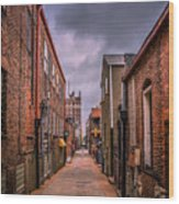 Alley A At Dawn Wood Print