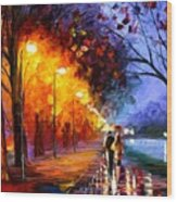 Alley By The Lake Wood Print