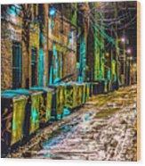 Alley In Uptown Chicago Dsc2687 Wood Print