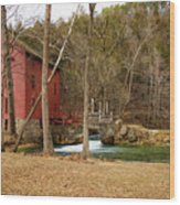 Alley Mill Wood Print
