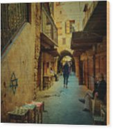 Alley Of Old Sidon Wood Print