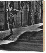 Alley Stroll Wood Print