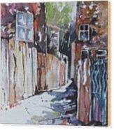 Alleyway Passage Wood Print