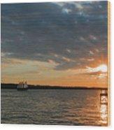 Alliance Sunset Sail Wood Print