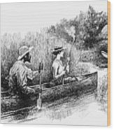 Alligator Hunt, 1888 Wood Print