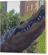 Alligator Statue 4 Wood Print