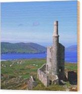 Allihies, Co Cork, Ireland Old Mine Wood Print